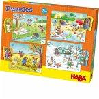 HABA 301888 - Puzzles Jahreszeiten, 4x15 Teile