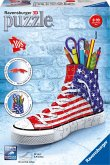 Ravensburger 12549 - Sneaker Flag, 3D Puzzleball, American Style, 108-teilig