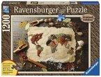Ravensburger Puzzle 19915 - würzige Weltkarte, 1200-teilig Holzstrukturpuzzle
