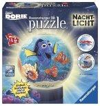 Ravensburger 12189 - Finder Dorie, Puzzleball mit Nachtlicht, 3D, 72 Teile