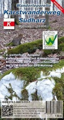 KKV Wanderkarte Karstwanderweg Südharz