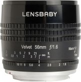 Lensbaby Velvet 56 Nikon F Objektiv für Nikon (62 mm Filtergewinde, Vollformat / APS-C Sensor)