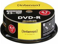 1x25 Intenso DVD-R 4,7GB 16x Speed Cakebox prin...