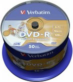 1x50 Verbatim DVD-R 4,7GB 16x Speed, photo printable