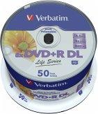 1x50 Verbatim DVD+R DL wide pr. 8x Speed, 8,5GB Life Series