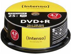 1x25 Intenso DVD+R 4,7GB 16x Speed Cakebox prin...
