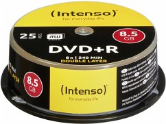 1x25 Intenso DVD+R 8,5GB 8x Speed, Double Layer...