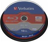 1x10 Verbatim BD-RE Blu-Ray 25GB 2x Speed, Cakebox