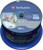 1x50 Verbatim BD-R Blu-Ray 25GB 6x Speed DL Wide Printable CB