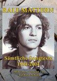 Sämtliche Songtexte 1984-2004