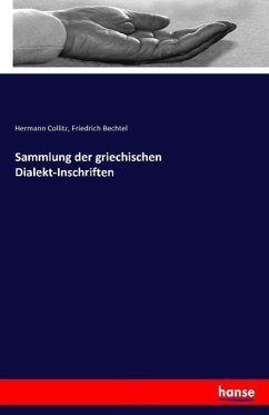 Sammlung der griechischen Dialekt-Inschriften