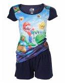 Nintendo Schlafanzug (Damen) -L- Mario und Yoshi