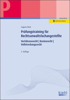 Prüfungstraining Fachkunde für Rechtsanwaltsfachangestellte - Lappen-Bork, Sabine
