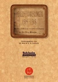 Kriegserinnerungen 1914 - 1918