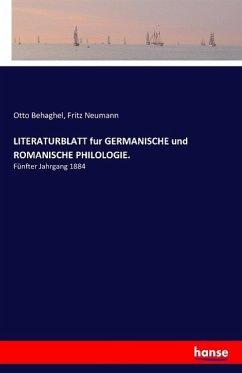 LITERATURBLATT fur GERMANISCHE und ROMANISCHE PHILOLOGIE.
