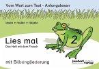 Lies mal 2 (mit Silbengliederung) - Das Heft mit dem Frosch