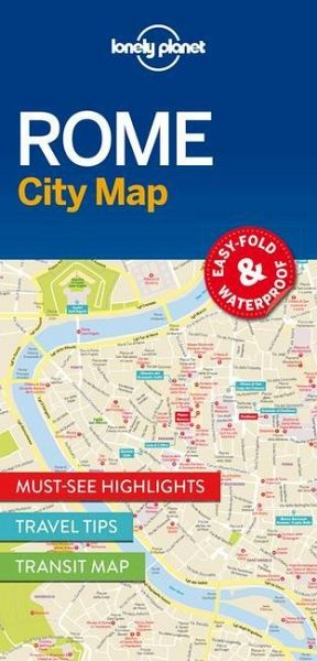 Lonely Planet Rome City Map