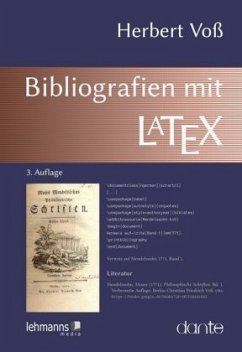 Bibliografien mit LATEX - Voß, Herbert