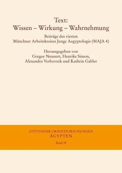 Text: Wissen - Wirkung - Wahrnehmung (eBook, PDF)
