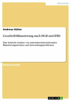 Goodwill-Bilanzierung nach HGB und IFRS (eBook, PDF)
