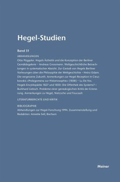 Hegel-Studien / Hegel-Studien Band 31 (1996)