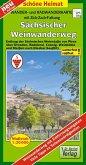 Doktor Barthel Karte Wander- und Radwanderkarte Sächsischer Weinwanderweg
