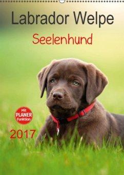 Labrador Welpe - Seelenhund (Wandkalender 2017 DIN A2 hoch)