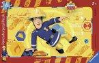 Ravensburger 06125 - Feuerwehrmann Sam in Action, Rahmenpuzzle 15 Teile