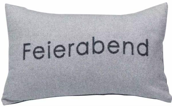 Fussenegger Kuschelkissenh/ülle Musterbord/üre grau 40 x 60 cm