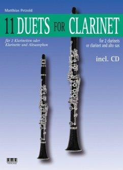 11 Duets for Clarinet, m. Audio-CD - Petzold, Matthias