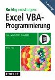 Richtig einsteigen: Excel VBA-Programmierung (eBook, PDF)