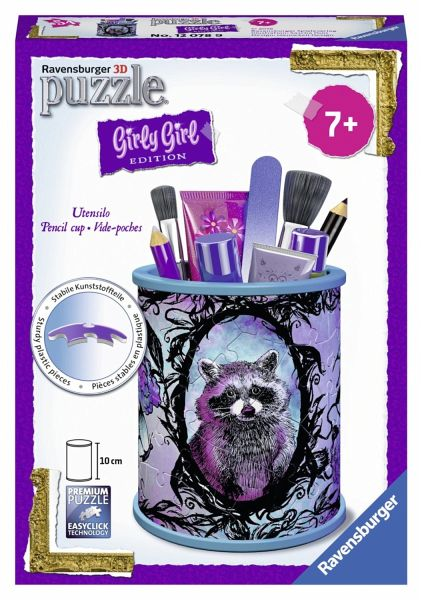 54 Teile Ravensburger 3D Puzzle Girly Girl Edition Utensilo Pferde 12075 Puzzles & Geduldspiele