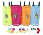 Hudora 76353 - Kinderpartyset, 25-teilig mit Hüpfsäcke und Zubehör