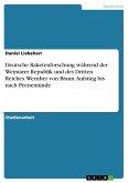 Deutsche Raketenforschung während der Weimarer Republik und des Dritten Reiches. Wernher von Braun. Aufstieg bis nach Peenemünde