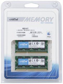 Crucial 16GB DDR3L 1866 MT/s Kit 8GBx2 SODIMM 204pin for Mac