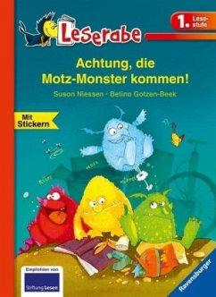 Achtung, die Motz-Monster kommen! - Leserabe 1. Klasse - Erstlesebuch für Kinder ab 6 Jahren - Niessen, Susan