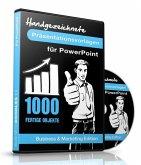 1000 Handgezeichnete Präsentationsvorlagen für PowerPoint, 1 CD-ROM (Business & Marketing Edition)