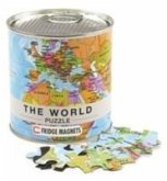 Welt Puzzle Magnets World Puzzle Magnets, 100 Teile, 23 x 33 cm