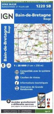 IGN Karte, Serie Bleue Bain de Bretagne