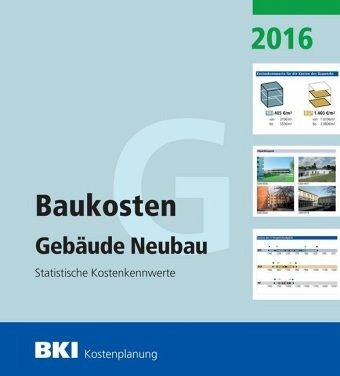bki baukosten neubau 2016 fachbuch b. Black Bedroom Furniture Sets. Home Design Ideas