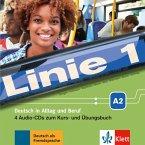 4 Audio-CDs zum Kurs- und Übungsbuch A2 / Linie 1