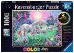 Ravensburger Puzzle 13670 - Einhörner im Mondschein - color StarLine