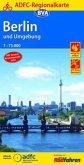 ADFC-Regionalkarte Berlin und Umgebung mit neuem Knotenpunktnetz 1:75.000, reiß- und wetterfest, GPS-Tracks Download