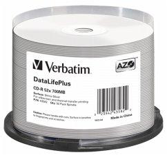 1x50 Verbatim CD-R 80 / 700MB 52x Speed, Thermo Printable