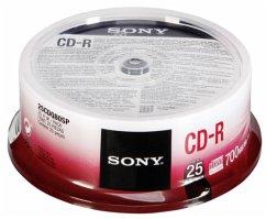 1x25 Sony CD-R 80 / 700MB 48x Speed, Cakebox