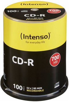 1x100 Intenso CD-R 80 / 700MB 52x Speed, Cakebox