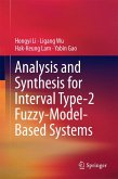 Analysis and Synthesis for Interval Type-2 Fuzzy-Model-Based Systems (eBook, PDF)