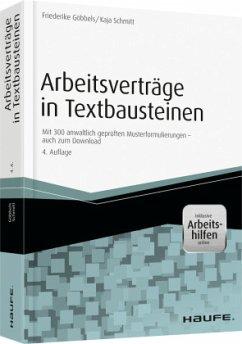 Arbeitsverträge in Textbausteinen - inkl. Arbei...