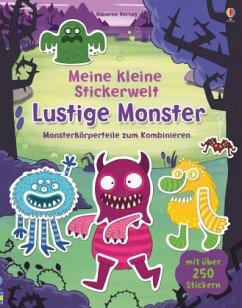 Meine kleine Stickerwelt: Lustige Monster