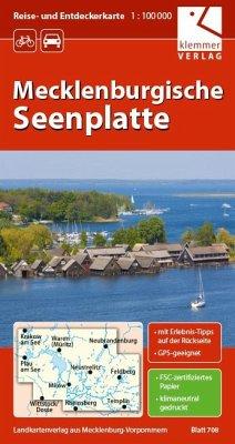 Reise- und Entdeckerkarte Mecklenburgische Seen...